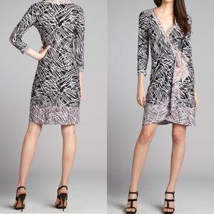 BCBGMAXAZRIA 💋 Naomi Mix-Print Wrap Dress SP NWT